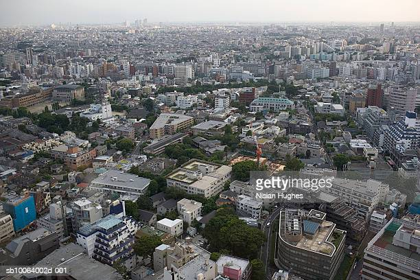 Japan, Tokyo, aerial view of apartment buildings