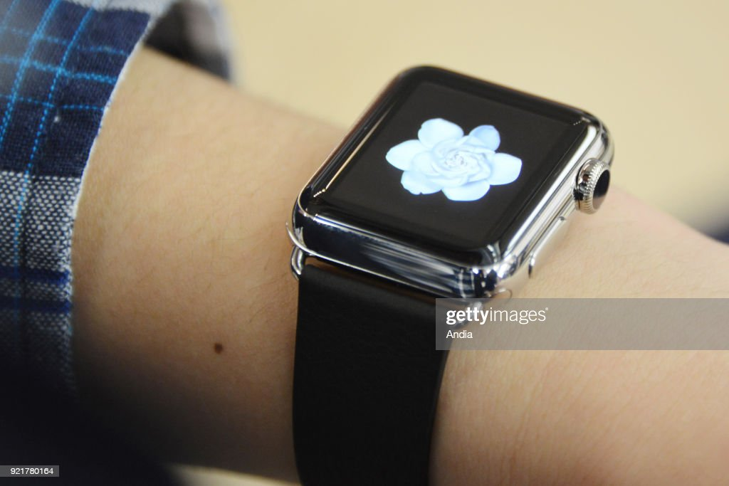 Apple Watch displayed in an Apple store in Ginza District on The watches will be available for sale on April 24, 2015.