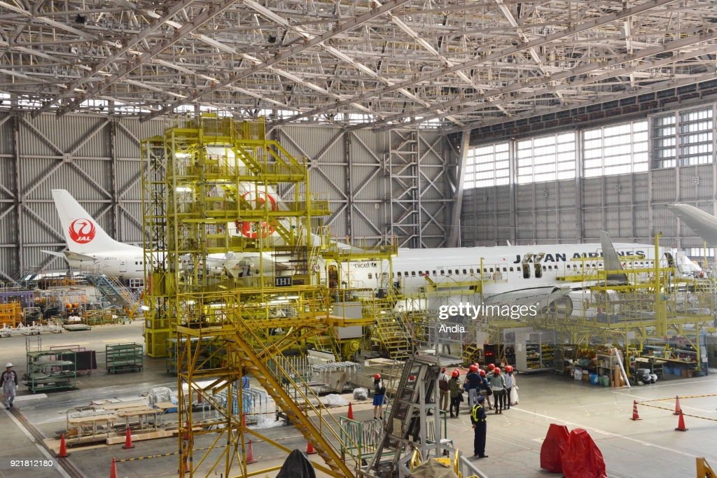 Japan Airlines maintenance hangar.