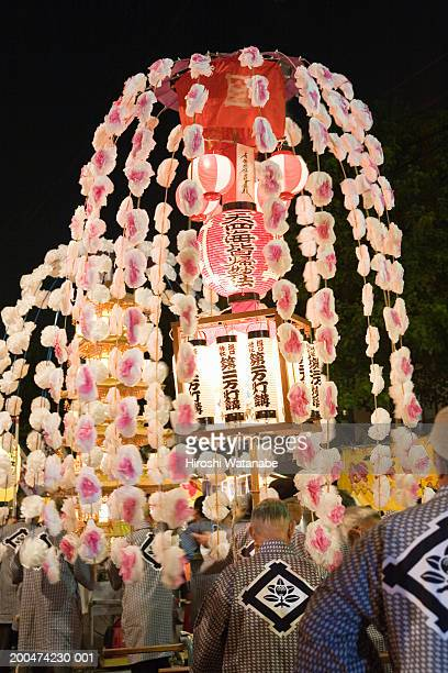japan, tokyo, buddhist festival at ikegami honmonji temple, night - religious celebration stock pictures, royalty-free photos & images