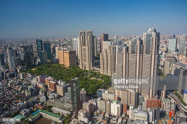 Japan Tokyo City Shinjuku District Central Park Tocho Bldg Park Tower Building