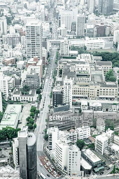 Japan, Tokyo, cityscape with main road