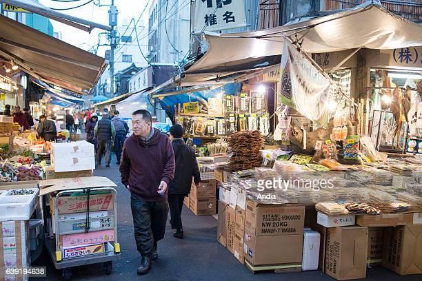 fishmonger's on Tsukiji outer fish market
