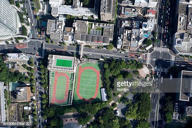 Japan, Tokyo, Onarimon, aerial view