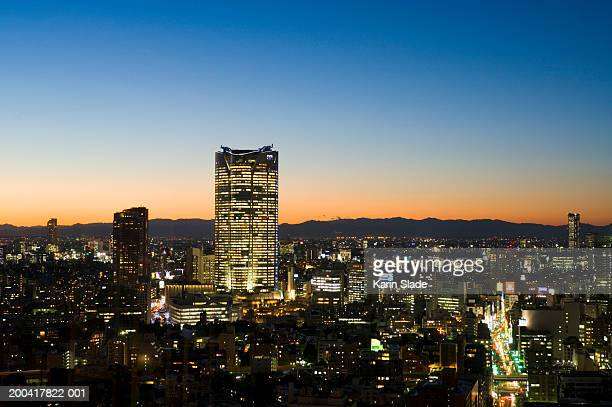 Japan, Tokyo, Roppongi, Roppongi Hills and Mori Tower, night