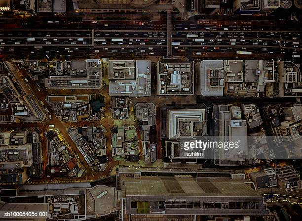 Japan, Tokyo, Shibuya, aerial view, shot directly above