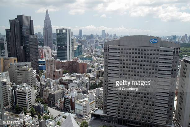 Japan Tokyo Shinjuku skyscrapers city skyline Pfizer NTT DoCoMo Yoyogi Building Izumi Garden Tower