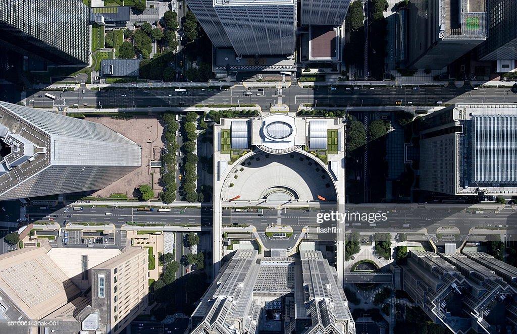 Japan, Tokyo, Shinjuku-ku, Shinjuku, aerial view : Stock Photo