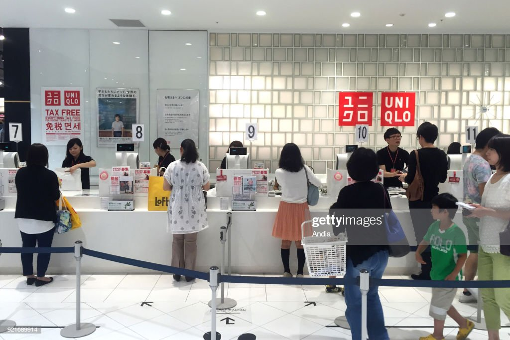 Uniqlo store checkout. : News Photo