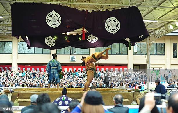 Japan Tokyo Yasukuni Shrine Ceremonial Sumo Tournament
