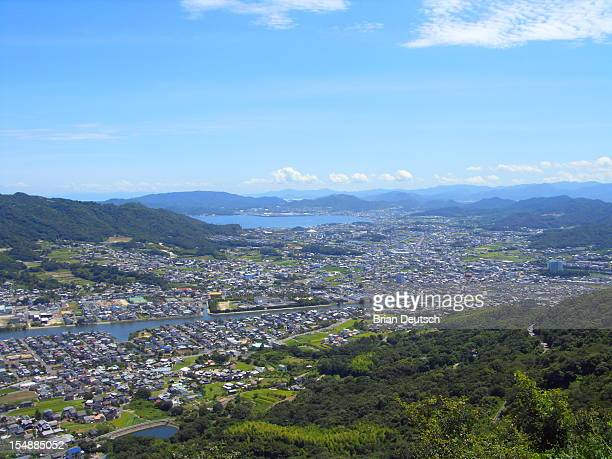 Japan town from above