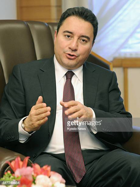 TOKYO Japan Turkish Deputy Prime Minister Ali Babacan speaks in an interview with Kyodo News at a Tokyo hotel on Dec 6 2011 He said Turkey remains...