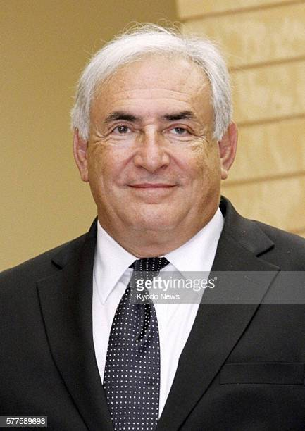 TOKYO Japan Undated file photo shows Dominique StraussKahn chief of the International Monetary Fund who submitted a letter of resignation on May 18...