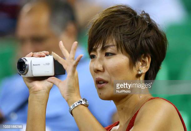 Japan v Dominican Republic FIVP Men's World Championship Japan supporters take a video with a cam at Mandela Forum in Florence Italy on September 13...