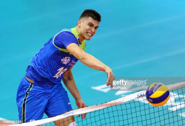 Japan v Slovenia FIVP Men's World Championship Klemen Cebulj of Slovenia at Mandela Forum in Florence Italy on September 14 2018 Photo Matteo...