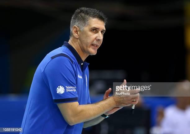 Japan v Slovenia FIVP Men's World Championship Slobodan Kovac coach of Slovenia at Mandela Forum in Florence Italy on September 14 2018 Photo Matteo...
