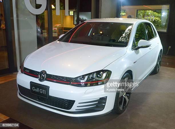 TOKYO Japan Volkswagen Group Japan unveils a remodeled Volkswagen Golf GTI in Tokyo on Sept 25 as the Japan arm of German automaker Volkswagen AG...