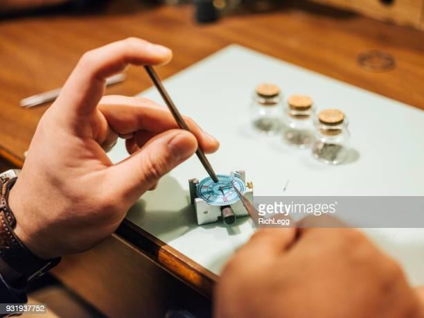 Japan Watchmaker in his Workshop