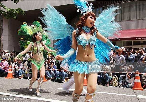 KOBE Japan Women dance the samba during the 44th Kobe Festival in Kobe on May 18 2014