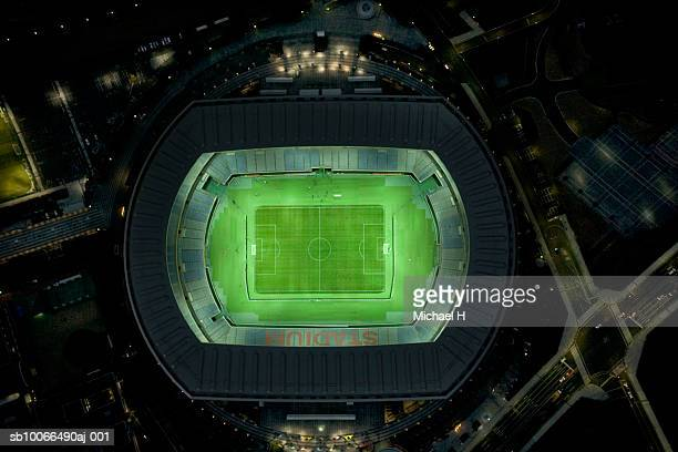 Japan, Yokohama, Kanagawa, Yokohama International Stadium, aerial view