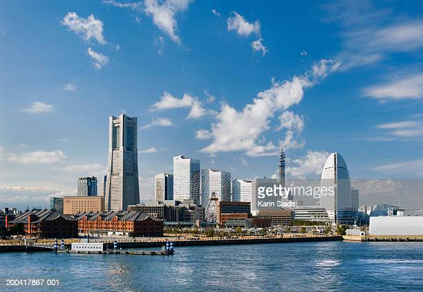japan, yokohama, minato mirai harbor - yokohama stock pictures, royalty-free photos & images