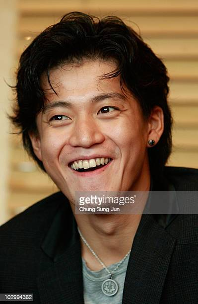 Japanese actor and film director Shun Oguri attends a press conference about his recent film 'Surely Someday' during the Puchon International...