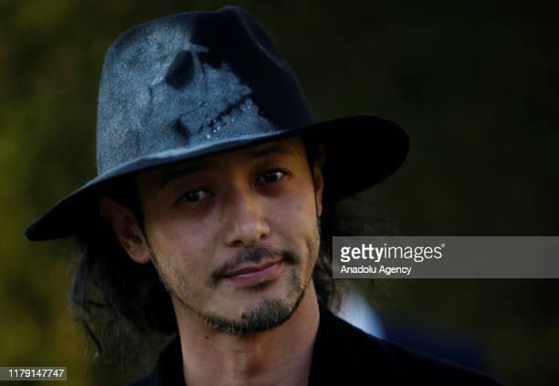 Japanese actor and musician Joe Odagiri speaks to media within the 56th Antalya Golden Orange Film Festival on October 31 2019 in Antalya Turkey