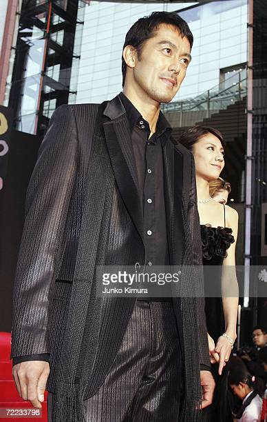 """Japanese actor Hiroshi Abe and actress Nao Matsushita , from the film """"adiantum blue"""" attend the opening event of the 19th Tokyo International Film..."""