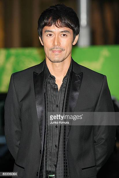 Japanese actor Hiroshi Abe attends the 21st Tokyo International Film Festival Opening Ceremony at Roppongi Hills on October 18, 2008 in Tokyo, Japan....