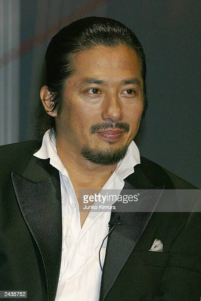 Japanese actor Hiroyuki Sanada attends a press conference for the film Last Samurai August 28 2003 in Tokyo Japan