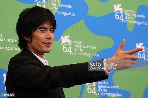 Japanese actor Kaori Momoi poses during a photocall of Sukiyaki Western Django during the 64th Venice International Film Festival at Venice Lido 05...