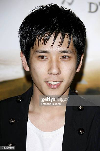 Japanese actor Kazunari Ninomiya poses during the photocall for the movie 'Letters From Iwo Jima' at the Ritz hotel on February 14 2007 in Paris...