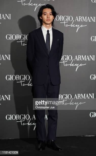 Japanese actor Kento Yamazaki arrives at the Giorgio Armani 2020 Cruise Collection on May 24 2019 in Tokyo Japan