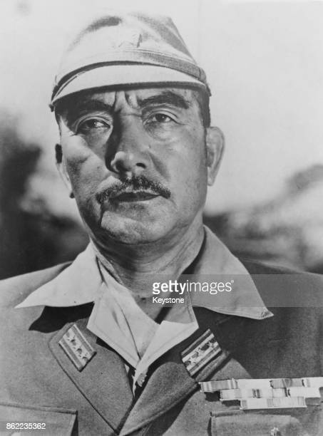 Japanese actor Sessue Hayakawa as Colonel Saito in the film 'The Bridge on the River Kwai' 1957