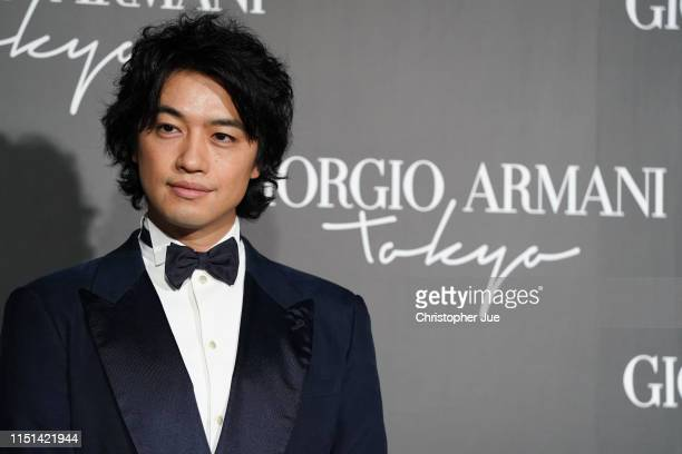 Japanese actor Takumi Saito arrives at the Giorgio Armani 2020 Cruise Collection on May 24 2019 in Tokyo Japan