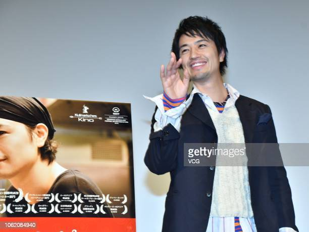 Japanese actor Takumi Saito attends a press conference of film 'Ramen Teh' at Toho Cinemas during the 31st Tokyo International Film Festival on...