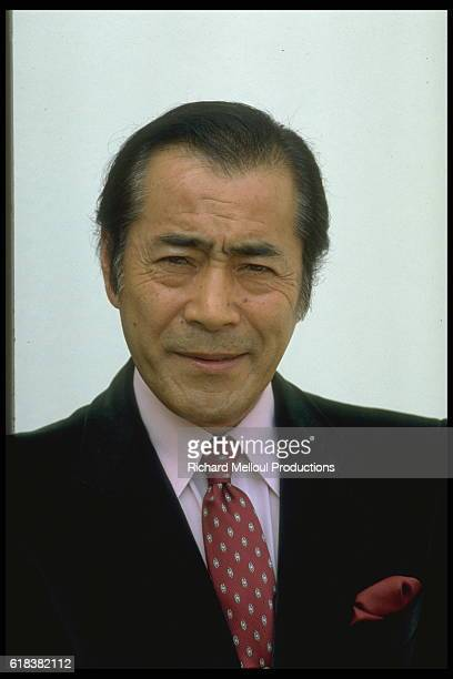 Japanese actor Toshiro Mifune attends the 1982 Cannes Film Festival.