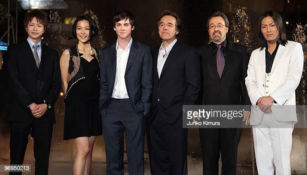 Japanese actors Yu Inaba Yoshino Kimura Actor Logan Lerman Director Chris Columbus producer Michael Barnathan and Japanese comedian Eiko Kano attend...