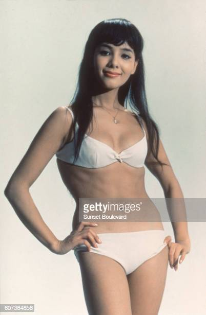 Japanese actress Akiko Wakabayashi plays the role of Aki in British director Lewis Gilbert's 1967 James Bond movie You Only Live Twice known in...