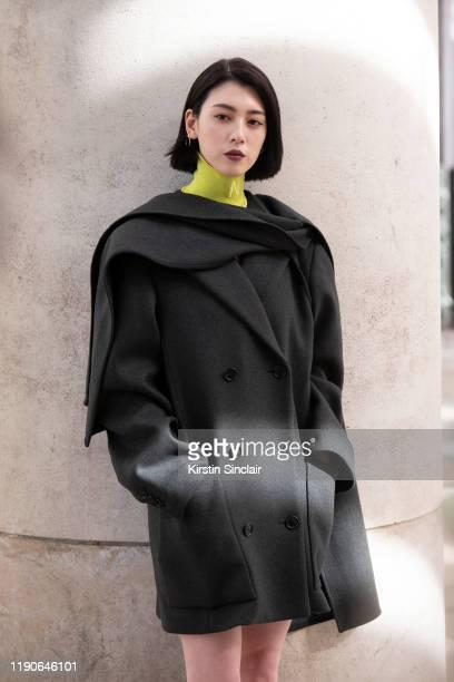 Japanese actress and model Miyoshi Aa wears all Nina Ricci on September 27, 2019 in Paris, France.