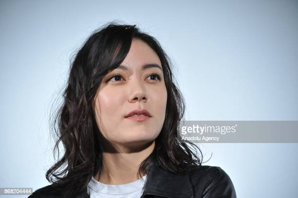 Japanese actress Anne Suzuki along with Japanese actress Yu Aoi and Japanese movie director Shunji Iwai attend the 30th Tokyo International Film...