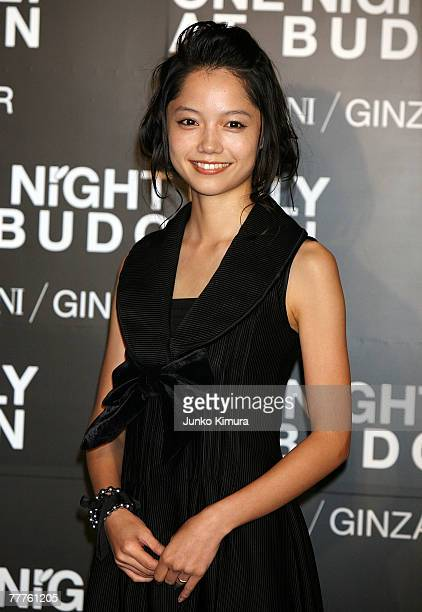 Japanese actress Aoi Miyazaki attends the Giorgio Armani's 'One Night Only' at Nihon Budokan on November 7 2007 in Tokyo Japan Italian fashion giant...