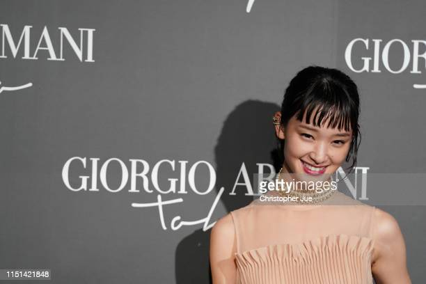 Japanese actress Ayame Goriki arrives at the Giorgio Armani 2020 Cruise Collection on May 24 2019 in Tokyo Japan