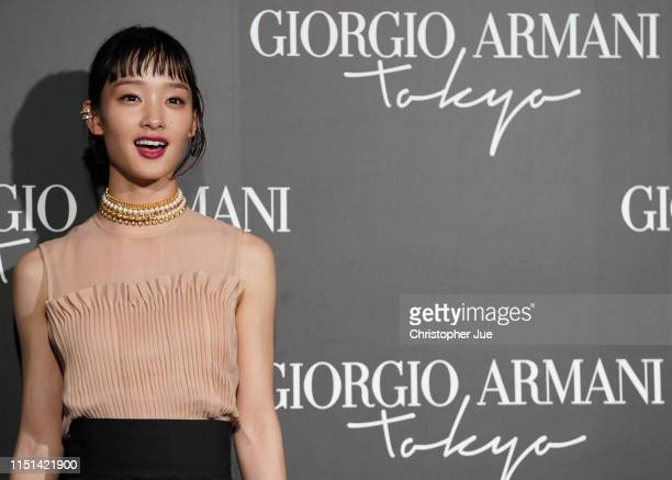 Japanese actress Ayame Goriki arrives at the Giorgio Armani 2020 Cruise Collection on May 24, 2019 in Tokyo, Japan.