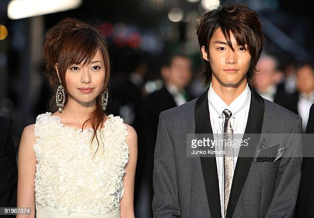 Japanese actress Erika Toda walks on the green carpet during the 22nd Tokyo International Film Festival Opening Ceremony at Roppongi Hills on October...