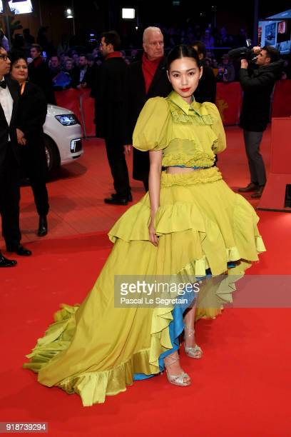 Japanese actress Fumi Nikaido attends the Opening Ceremony 'Isle of Dogs' premiere during the 68th Berlinale International Film Festival Berlin at...