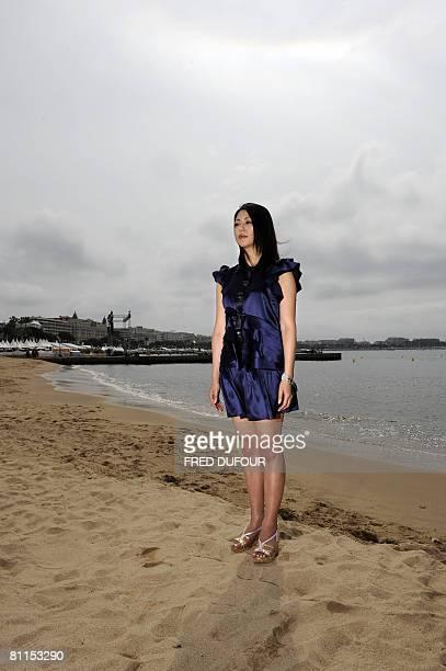 Japanese actress Haruka Igawa poses for a photocall for director Kiyoshi Korosawa's film 'Tokyo Sonat' at the 61st Cannes International Film Festival...