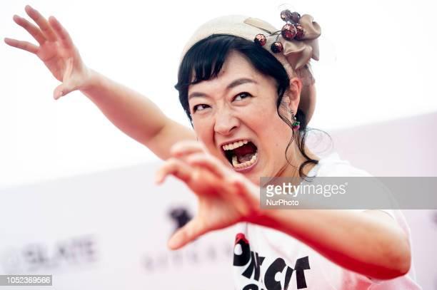 Japanese actress Harumi Shuhama at the photocall of One cut of the dead during the 51 edition of Festival Internacional de Cinema Fantastic de...