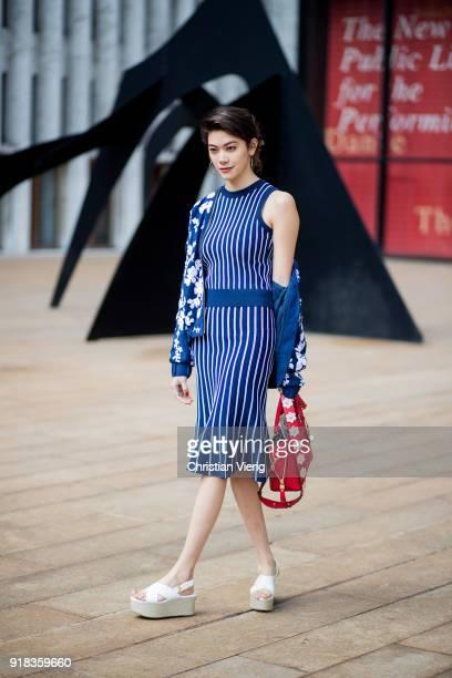 Japanese actress Hikari Mori seen outside Michael Kors on February 14 2018 in New York City