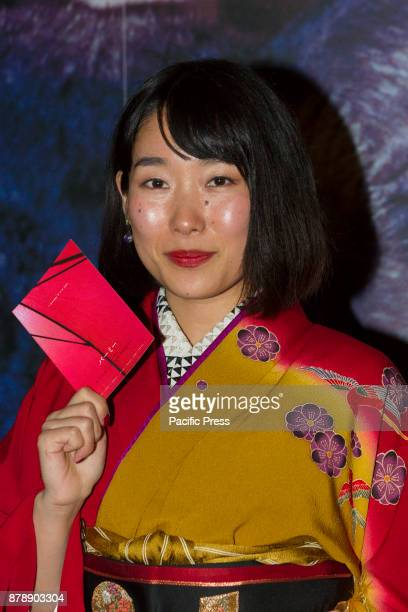 Japanese actress Hiromi Nakazato on red carpet during opening night of Torino Film Festival